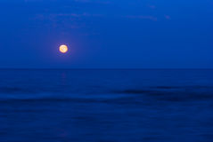 Full moon over the  sea. Full moon over the Black Sea Royalty Free Stock Photos
