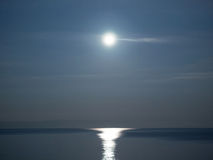 Full moon over sea landscape Royalty Free Stock Photos