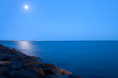 Full Moon Over The Sea Royalty Free Stock Image