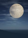 Full Moon Over Slope Royalty Free Stock Image