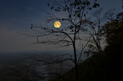 Full moon over the valley Royalty Free Stock Images