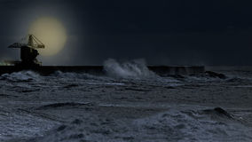 Full moon in an overcast night Royalty Free Stock Photography