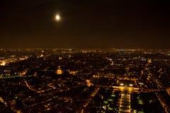 Full moon in Paris Royalty Free Stock Photos