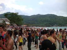 Full moon party. Stock Photo