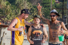 The Full Moon party on island Koh Phangan.  Thailand Royalty Free Stock Images