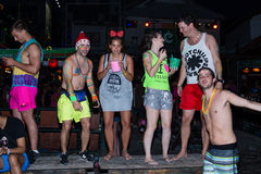 Full Moon Party in Koh Phangan, Thailand. Royalty Free Stock Images