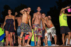 Full Moon Party in Koh Phangan, Thailand. Stock Photography