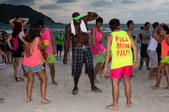 Full Moon Party in Koh Phangan, Thailand. royalty free stock photos
