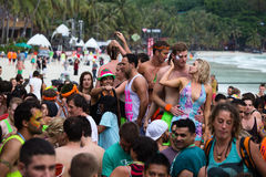 Full Moon Party in Koh Phangan, Thailand. stock image