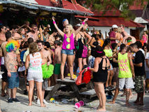 Full Moon Party in Koh Phangan, Thailand. Stock Images