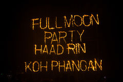 Full moon party in Koh Phangan , Thailand Stock Images