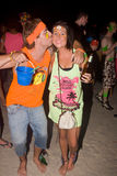 Full moon party in Koh Phangan , Thailand . Stock Photo