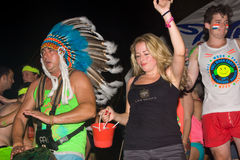 Full moon party in Koh Phangan , Thailand Stock Photo