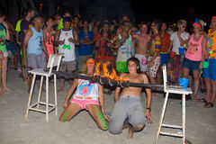 Full moon party in Koh Phangan , Thailand Stock Image