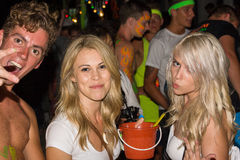 Full moon party in Koh Phangan , Thailand . Royalty Free Stock Image
