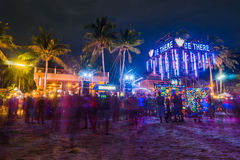 Full moon party at Koh Phangan Royalty Free Stock Photo