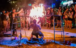 Full moon party royalty free stock photo