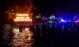 Full moon party stock images