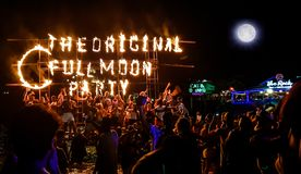 Full moon party stock image