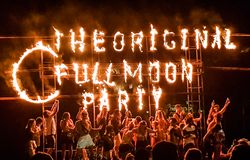 Full moon party royalty free stock images