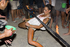 FULL moon party in Phangan, Thailand. Royalty Free Stock Image