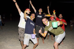 FULL moon party in Phangan, Thailand. Royalty Free Stock Photos
