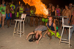 FULL moon party in Phangan, Thailand. Stock Image