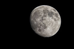 Almost full moon phase. Lunar phase on 29 June 2015 stock photos