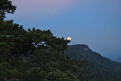 Full moon at Phu Kradueng of Thailand. Full moon at Phu Kradueng  of Thailand Stock Image