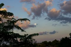 Full Moon. Pic of sunset in Oberá, Misiones, Argentina Royalty Free Stock Photos