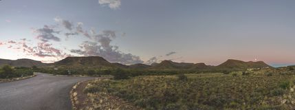 The Full Moon rise at Karoo NP Royalty Free Stock Photos