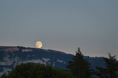 Full moon rise Royalty Free Stock Photo