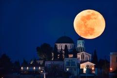 Full moon rising Royalty Free Stock Photography