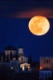 Full moon rising Stock Photography
