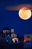 Full moon rising Royalty Free Stock Photo