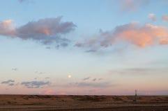 Full Moon Rising in a Dusk Stock Photos