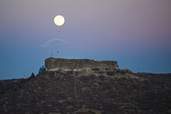 Full Moon Rising Stock Photo