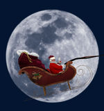 Full Moon Santa Royalty Free Stock Image