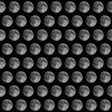 Full moon seen with telescope Stock Photo