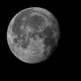 Full moon with sharp details. The full moon in the night black sky Royalty Free Stock Images