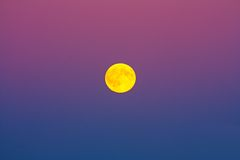 Full moon. In the sky color Royalty Free Stock Photos