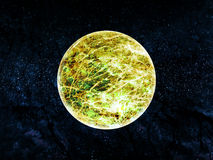 Full Moon. With Starfield Background Suitable for Custom Content Royalty Free Stock Image