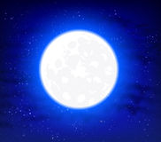 Full moon on a starry background space sky Royalty Free Stock Images