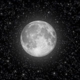Full Moon and stars Royalty Free Stock Images