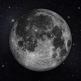 Full moon with stars in the night sky Royalty Free Stock Images