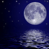 Full moon and stars Stock Photos