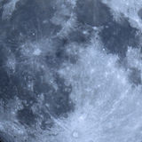 Full moon surface seen with telescope Stock Photography