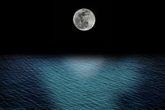 Full moon and tides Stock Image
