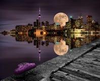 Full Moon Toronto Stock Photo