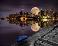 Full Moon Toronto Stock Photos